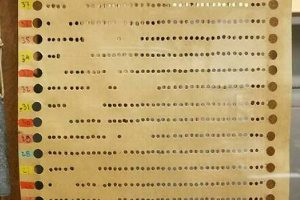 binary name punch card